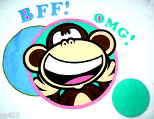 "20"" BOBBY JACK MONKEY OMG SET CHARACTER WALL SAFE FABRIC DECAL CUT OUT"