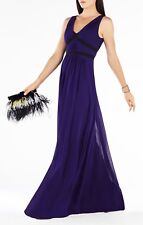 BCBG MAXAZRIA 'Aurica' Pleat Gorgette Gown Size 6 $448