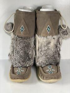 Womens Tecumseh Mukluk Low Boots Grey