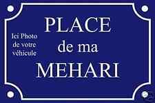 Réplique PLAQUE de RUE MEHARI CITROEN en ALU 20x30 cm