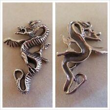 Drachen Anhänger 925er Silber Silberanhänger Silberschmuck Kettenanhänger