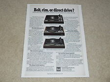 Dual 701, 1229q, 601 Turntable Ad, 1975, Article, Info, Rare Ad!