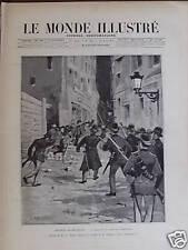 LE MONDE ILLUSTRE 1893 N 1882 TROUBLES DE BRUXELLES