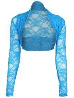 New Womens Ladies Cropped Lace Shrug top Bolero Size UK 8 - 16