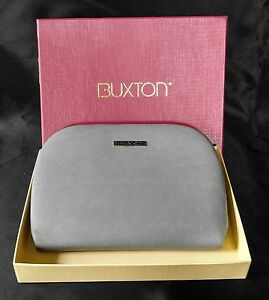 Buxton Cardex Wallet Women's Cowhide Leather Exterior Gray