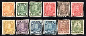"1930-31 Canada SC# 162-173 - King George V ""Arch/Leaf"" Issue Lot# 378 - M-H"