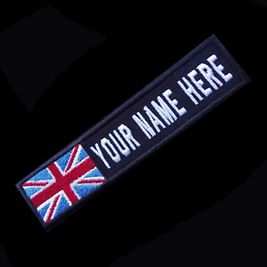 Custom personalised cloth flag patch for Military Air-soft  choice of backings