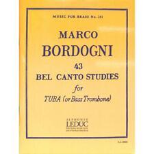 Bordogni, Marco: 43 Bel Canto Studies - Noten für Tuba 28604 - 9790046286049