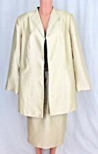 Le Suit Woman Sz 18W Champagne Skirt Suit Sequin Trim Dressy Mother of Bride