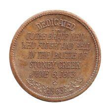 Stoney Creek Battlefield Memorial - Comemmorative Medal / Token - Canada 1963