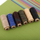 50M 150D 1mm Leather Sewing Flat Waxed Thread Wax String DIY Stitching Craft HOT