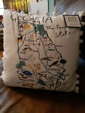 """Crown &Ivy  Georgia state map throw pillow.  New in bag. 18""""x18"""""""