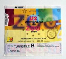 U2 rare billet ticket concert UK London 11/08/1993