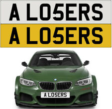 A LOSERS LOSER WINNER LOST FAST RACE CHEEKY RUDE FUNNY PRIVATE NUMBER PLATE