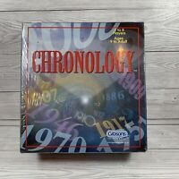 Chronology Card Game Fun Family Gibsons Board Games 2001 COMPLETE SEALED RARE