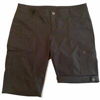 KUHL Women's Roll Up Cargo Pockets Hiking Outdoor Black Bermuda Shorts Size 14