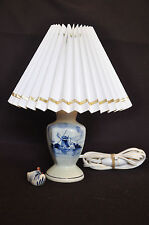 Lampe à pied en céramique porcelaine de Delft - Hollande