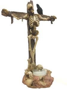 Nemesis Now - Crucified Skeleton T-Light Holder - Gothic Figurine Candle Holder