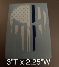Punisher Blue Life Matters American Flag Vinyl Decal Sticker