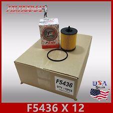 1 CASE OF 12PCS F5436 ENGINE OIL FILTER GM SATURN COBALT SAAB PONTIAC OLDSMOBILE