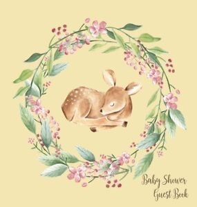 Woodland Baby Shower Guest Book (Hardcover)