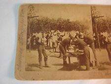 AFTER A HEAVY MARCH CHICKAMAUGA CAMP STEREOVIEW STEREO CARD    T*