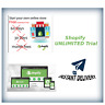 Shopify UNLIMITED Trial + Premium Theme | No credit card needed |Don't pay $29/m