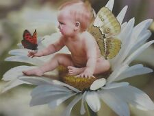 Poster Print 3d flip pictures of three baby Angels, great for Home Decor A023