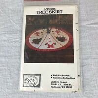 Vintage Quilters Heaven Applique Christmas Tree Skirt Pattern McCord 1983 Uncut
