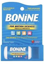 2x Bonine TRAVEL DISPENSER PACK Motion Sea Sickness 12 Chewable Raspberry No box