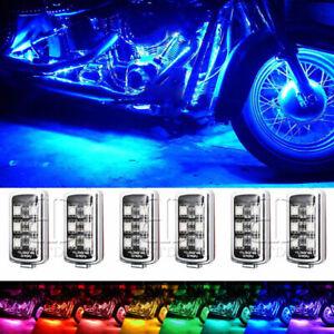 6pcs Motorcycle 36LED Under Glow Light Kit RGB Neon Strip Remote Control