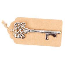 50 Vintage Key Bottle Openers w/ Tags & Twine - Silver Wedding Favor Keys