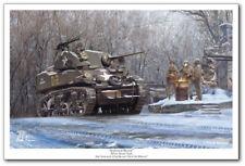 Armored Recon - M5A1 STUART by Mark Karvon - Aviation Art Print