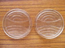 """NOS VINTAGE 3"""" FROSTED COWL FENDER DRIVING LIGHT LENS PAIR 1930 1931 DURANT FORD"""