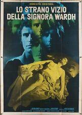 BLADE OF THE RIPPER Italian 4F movie poster 55x79 EDWIGE FENECH GIALLO NISTRI