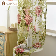 NAPEARL 1 Panel Floral Curtains Burn-out Modern Transparent Sheer Fabrics Drapes