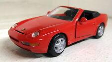 NZG 1/43 Scale Porsche 968 Cabriolet Red Vintage diecast model car