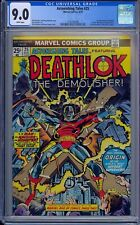CGC 9.0 ASTONISHING TALES #25 WHITE PAGES 1ST APPEARANCE DEATHLOK 1974