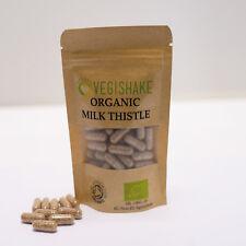 Organic Milk Thistle Vegan Pullulan Capsules Liver Detox Silymarin Antioxidant