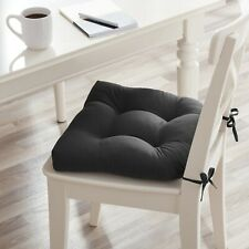 Chair Seat Cushion Pads Ties Kitchen Dining Room Overstuffed Microfiber 4 Pack