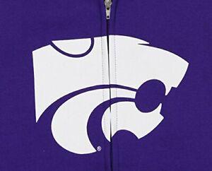 NCAA Youth Kansas State Wildcats Full Zip Fleece Helmet Hoodie