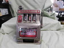 VINTAGE Nevada Buckaroo Piggy Bank Metal Slot Machine Toy Las Vegas Slot
