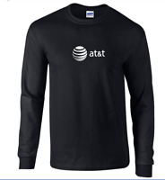 AT&T T-shirt 80s Vintage LOGO Funny GEEK Phone Long Sleeve Black Shirt S-5XL