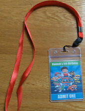 PAW PATROL  BIRTHDAY PARTY INVITATION LANYARD