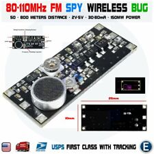 80-110Mhz Fm Surveillance Spy Transmitter Wireless Microphone Bug Board Module