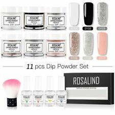 Acrylic Set Dip Powder Glitter Kit Nail Art Manicure Dry Without Lamp Cure