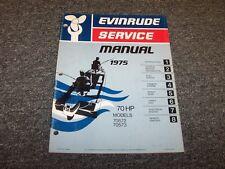 1975 Evinrude 70 HP Outboard Motor Shop Service Repair Manual Guide Book