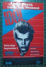 VINTAGE ORIGINAL 9/1/1984 Billy Idol Concert Poster The Castle Michigan RARE