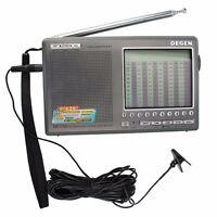 Degen DE1103 DSP Radio FM SW MW LW SSB Digital World Receiver & External Antenna