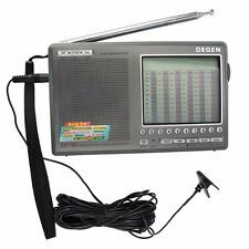 Degen DE1103 DSP Radio FM SW MW LW SSB Digital World Receiver & External Antenna